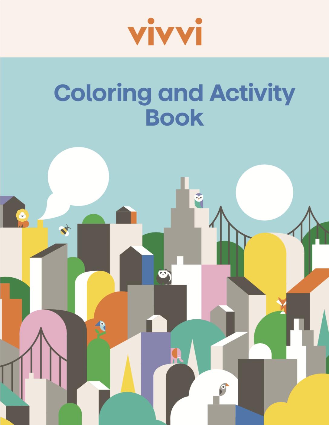 Vivvi Coloring and Activity Book